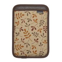 Assorted Fall Leaves Pattern iPad Mini Sleeve