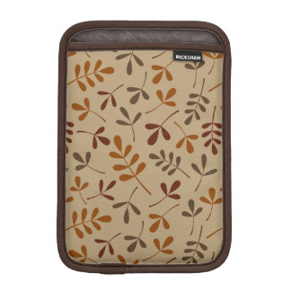 Assorted Fall Leaves Pattern iPad Mini Sleeve