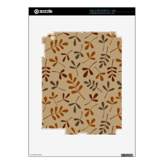 Assorted Fall Leaves Pattern Skins For iPad 2