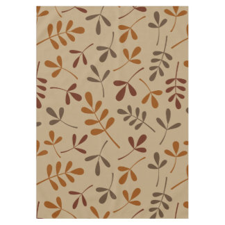 Assorted Fall Leaves Pattern Tablecloth