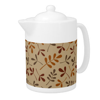 Assorted Fall Leaves Pattern Teapot