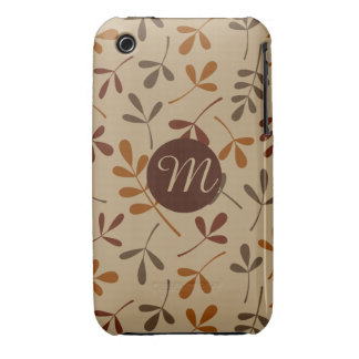Assorted Fall Leaves Ptn (Personalised) iPhone 3 Cases