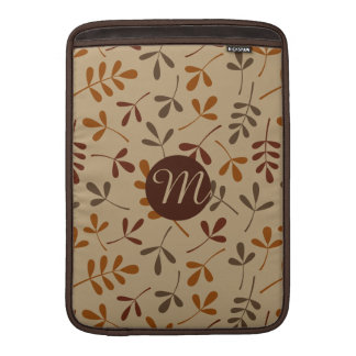 Assorted Fall Leaves Ptn (Personalized) Sleeve For MacBook Air