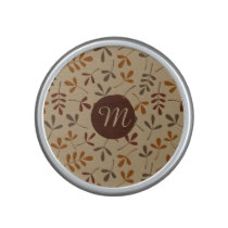 Assorted Fall Leaves Ptn (Personalized) Speaker