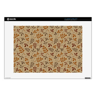 """Assorted Fall Leaves Repeat Pattern 15"""" Laptop Decal"""