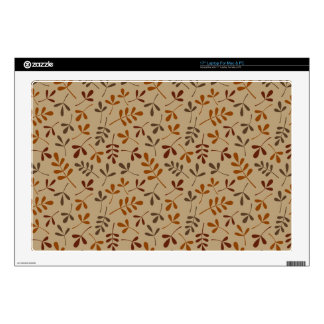 """Assorted Fall Leaves Repeat Pattern 17"""" Laptop Decals"""