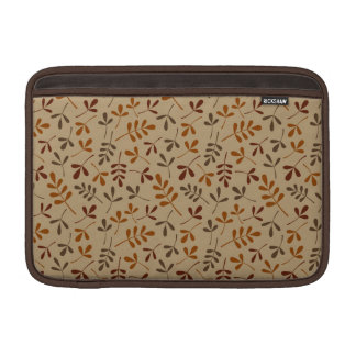 Assorted Fall Leaves Repeat Pattern MacBook Sleeve