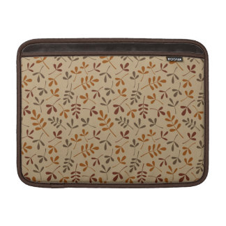 Assorted Fall Leaves Repeat Pattern Sleeve For MacBook Air