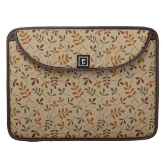 Assorted Fall Leaves Repeat Pattern Sleeve For MacBook Pro
