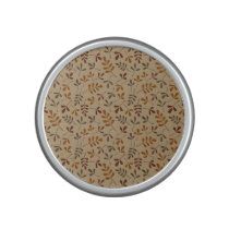 Assorted Fall Leaves Repeat Pattern Speaker