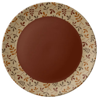 Assorted Fall Leaves Rpt Ptn Edge Dinner Plate