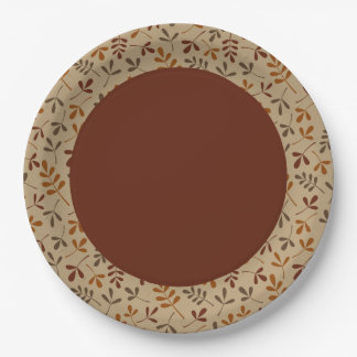 Assorted Fall Leaves Rpt Ptn Edge Paper Plate