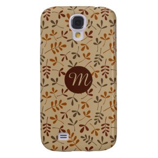 Assorted Fall Leaves Rpt Ptn (Personalized) Galaxy S4 Covers