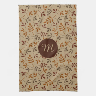 Assorted Fall Leaves Rpt Ptn (Personalized) Hand Towels