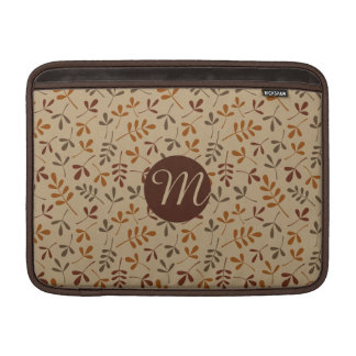 Assorted Fall Leaves Rpt Ptn (Personalized) MacBook Sleeve