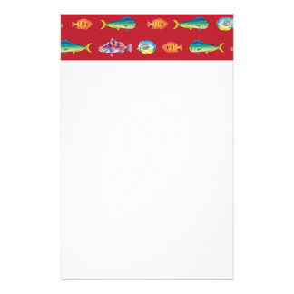 Assorted Fish Pattern Stationery Design