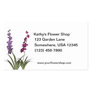 Assorted Flowers Florist Shop Double-Sided Standard Business Cards (Pack Of 100)