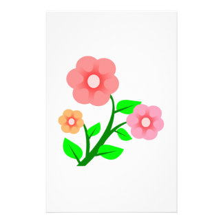 Assorted Flowers Customized Stationery