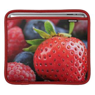 Assorted fresh berries iPad sleeves