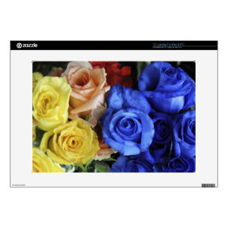 """Assorted fresh rose bouquets 15"""" laptop decals"""