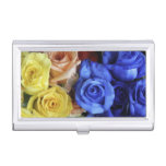 Assorted fresh rose bouquets business card cases