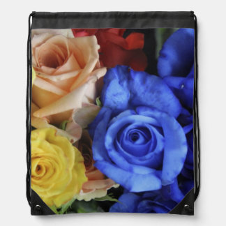 Assorted fresh rose bouquets cinch bags