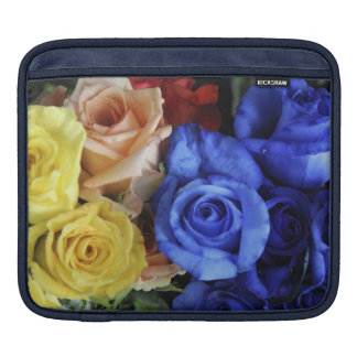 Assorted fresh rose bouquets iPad sleeve