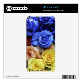 Assorted fresh rose bouquets iPhone 4 decal