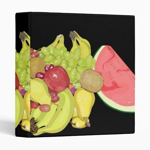 Assorted Fruit 3 Ring Binder