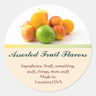 Assorted Fruit Flavor Labels Stickers