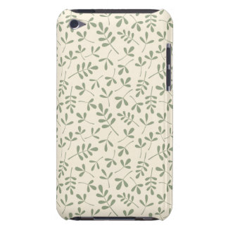 Assorted Green Leaves on Cream Repeat Pattern iPod Touch Case