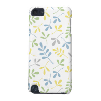 Assorted Leaves Blue Green Grey Yellow White Ptn iPod Touch 5G Case