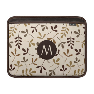 Assorted Leaves Gold Browns Crm Ptn (Personalised) MacBook Air Sleeve
