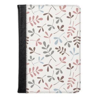 Assorted Leaves Grey Taupe Blue Pink Crm Ptn Kindle Case