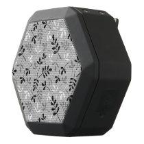Assorted Leaves Monochrome Pattern Black Bluetooth Speaker