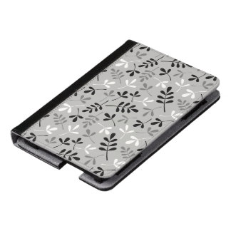 Assorted Leaves Monochrome Pattern Kindle Case