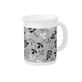 Assorted Leaves Monochrome Pattern Pitchers