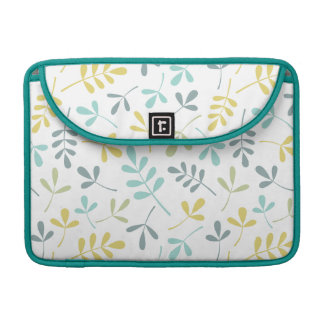 Assorted Leaves Pattern Color Mix on White MacBook Pro Sleeve
