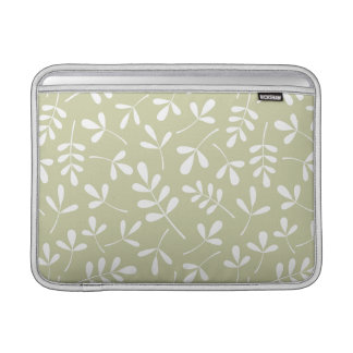 Assorted Leaves Pattern White on Lime MacBook Air Sleeve