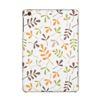 Assorted Leaves Ptn Brown Orange Green Sand White iPad Mini Cases