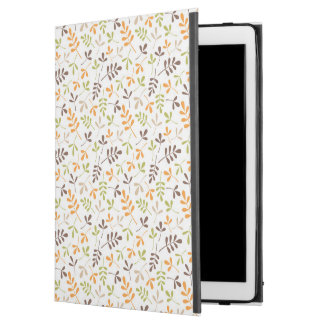 "Assorted Leaves Sml Ptn Brwn Orange Grn Sand White iPad Pro 12.9"" Case"