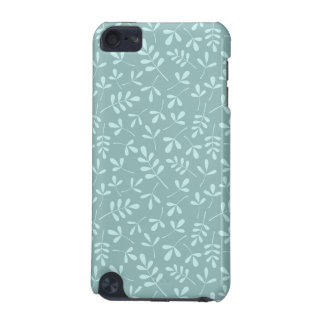 Assorted Light on Mid Teal Leaves Repeat Pattern iPod Touch 5G Cover