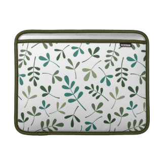 Assorted Mixed Green Leaves Pattern Sleeve For MacBook Air