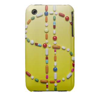 Assorted pills creating dollar symbol iPhone 3 covers