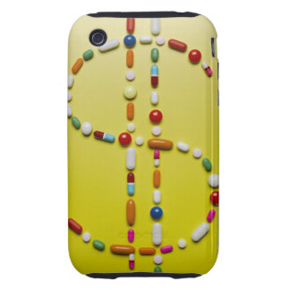 Assorted pills creating dollar symbol iPhone 3 tough covers