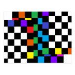 Assorted Rainbow Postcard Retro Postmodern