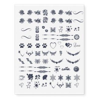 Assorted Small Temp Tattoos