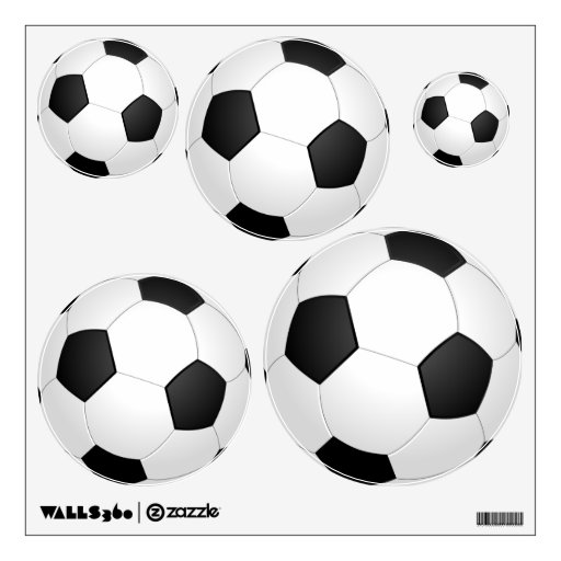 Assorted Soccer Ball Wall Decal Set