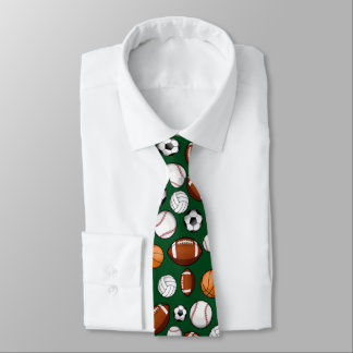 Assorted Sports All STAR Pine Green Colored Neck Tie