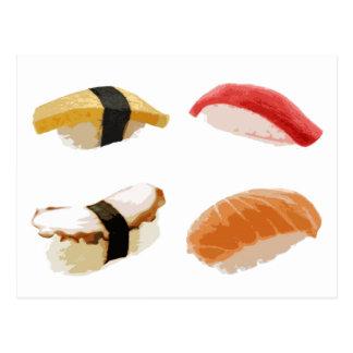 Assorted Sushi Postcard